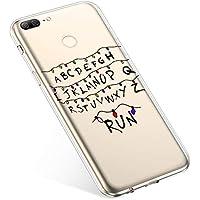 Uposao Handyhülle Huawei Honor 9 Lite Hülle Transparent Silikon Ultra Dünn Schutzhülle Durchsichtig Handyhülle Kristall Weiche Silikon TPU Handytasche Rückschale,Weihnachten Lichter