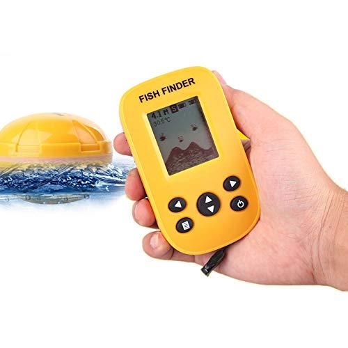 Remote Sonar Sensor (Monland Wieder Aufladbarer Drahtlos Remote Sonar Sensor 45M Wassertiefe Hoch Definition LCD Fisch Fischfinder)