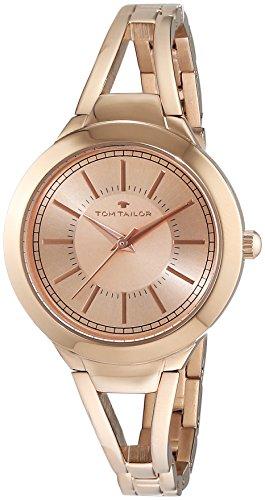 TOM TAILOR Damen-Armbanduhr Analog Quarz Edelstahl beschichtet 5413802