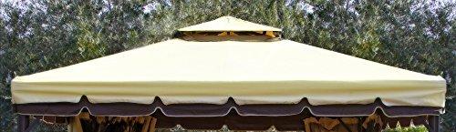 Eurolandia® telo ecru' per copertura gazebo 3x3 450 gr ricambio camino antivento antipioggia 3 x 3