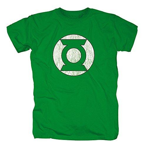 TSP Justice League - Green Lantern Symbol T-Shirt Herren S Knallgrün