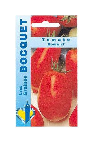Les Graines Bocquet - Graines De Tomate Roma Vf - Graines Potagères À Semer - Sachet De 0.5Grammes