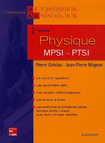 Physique 1e année MPSI-PTSI