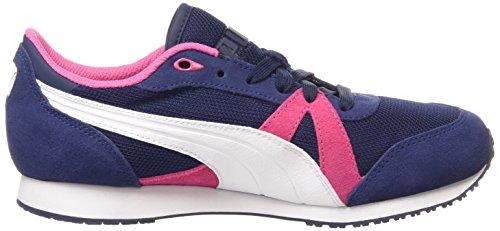 Puma - Tf-Racer Mesh, Scarpe Da Corsa, unisex (Multicolor (Peacoat-White-Carmine Rose))