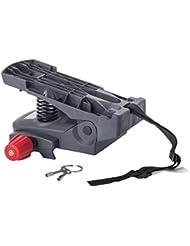 Gepäckträger-Adapter Hamax, für Caress Kindersitz, grau (1 Stück)