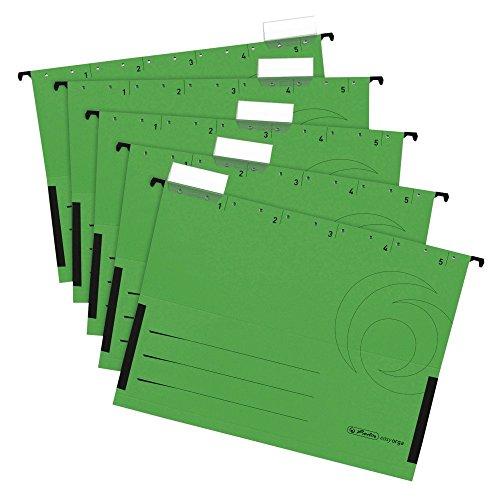 Herlitz 5874755 Hängetasche, seitlich geschlossen, Organisationsdruck, farbig sortiert (Hängetaschen, Grün, 25)