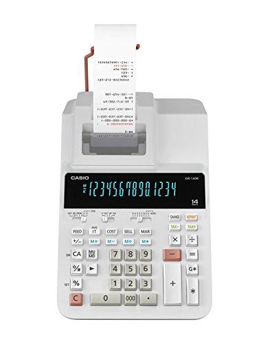 Casio DR-140R-WE Printing Calculator (White)