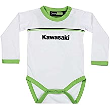 Kawasaki Sports Pelele Baby Body Manga Larga. Blanco Verde