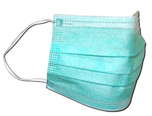 100 Stück Einweg OP-Maske Gesichtsmaske Mundschutz Staubschutz Infektionsschutz BFE 99,8%