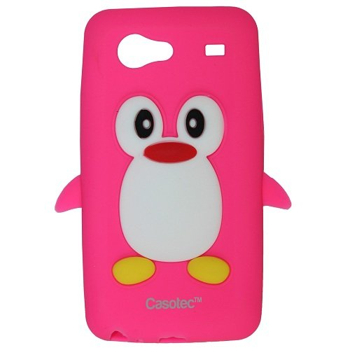 Casotec Penguin Silicone Jelly Back Case Cover for Samsung Galaxy S Advance i9070 - Hot Pink  available at amazon for Rs.125