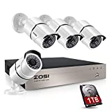 ZOSI 1080P Home Security Camera Systems, 8CH 1080P CCTV Camera Systems with 2TB Hard Drive