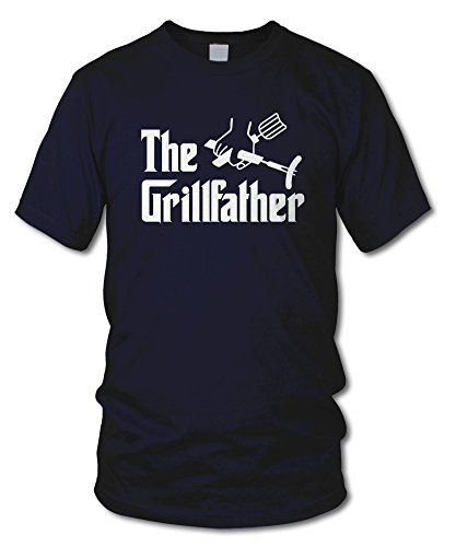 shirtloge - THE GRILLFATHER - KULT - BBQ T-Shirt - in verschiedenen Farben - Größe S - XXL Navy