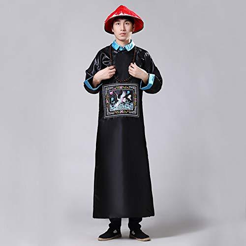 Minister Kostüm - wojiaxiaopu Halloween Zombie Kostüme Qing-Dynastie Offizielle Kleider Chaozhu EIN Produkt Minister Kostüm Alten Beamtenschutz Kleidung Schwarz XL