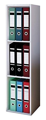 VCM Aktenregal Bücherregal Regal Standregal Büroregal Ordnerregal Schrank Büro Möbel Weiß 115 x 34 x 29 cm'Offas'