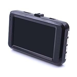 iProtect Full-HD 1080p DashCam Full-HD con sensore di accelerazione, rilevamento del movimento e display da 3 pollici - fotocamera autofocus con modalità foto e ripresa continua
