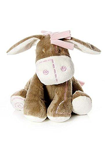 Bebé infante peluche animal de felpa juguete rosa burro asno para recién nacido bebé niña