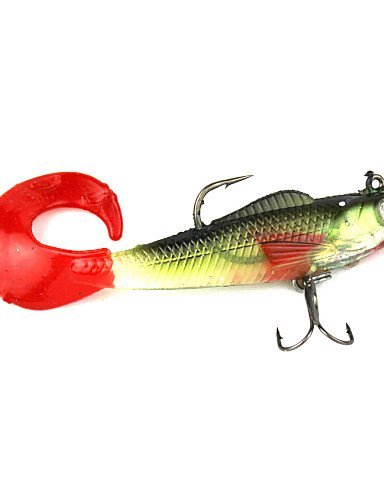 ZTMN Realistische Fischen Ende der Rolle Intron Blei Gummiköder 9,5 g