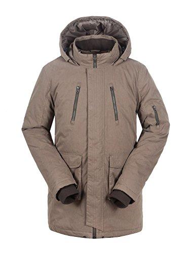 aparso Herren Parka Winter Jacke Mantel (Olive, XL) -