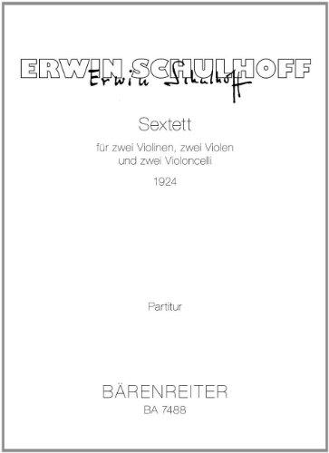 Sextett für zwei Violinen : Zwei violen und zwei Violoncelli - Pour 2 violons, 2 altos et 2 violoncelles
