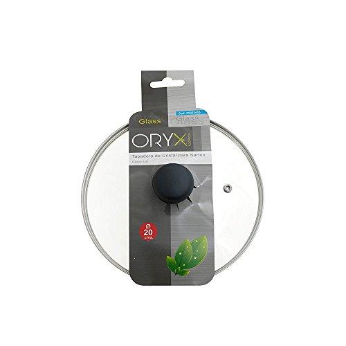 comprare on line ORYX 5023410Coperchio di vetro per padella, oslash; 20cm, bordo in acciaio inox, trasparente prezzo