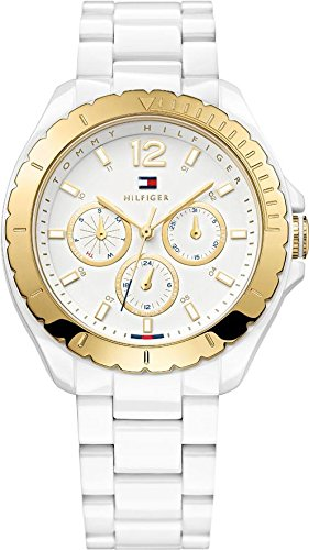 Tommy Hilfiger Watches Women's Quartz Watch with Silver Dylan Analogue Quartz Plastic 1781428