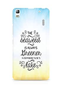 AMEZ seawead is greener in others lake Back Cover For Lenovo A7000
