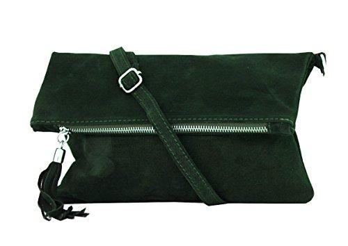 zarolo Damen Umhängetasche,Tasche klein, Schultertasche, Cross Body, Leder Clutch echtes Leder, Handtasche Italienische Handarbeit M20601 -