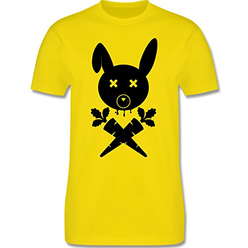 Sonstige Tiere - Hase Skull - Herren Premium T-Shirt Lemon Gelb