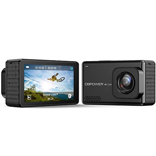 Galleria fotografica DBPOWER EX7000 PRO 4K, Action Camera Wi-Fi, schermo da 2.45 LCD Touchscreen, videocamera subacquea con sensore Sony Image da 16MP, Sport cam waterproof con a 170° e 2 batterie ricaricabil