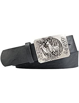 Jagd-Motiv Trachten-Leder-Gürtel