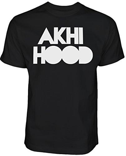 Halal-Wear Akhi Hood - Islamische Kleidung Islam shirt Muslim T Shirt Streetwear (M, Schwarz)