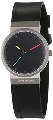 Jacob Jensen it's_amaz-reloj analógico de cuarzo de caucho Item NO, 650 de JACOB JENSEN