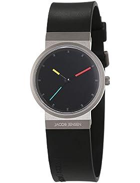 JACOB JENSEN Damen-Armbanduhr Analog Quarz Kautschuk ITEM NO. 650