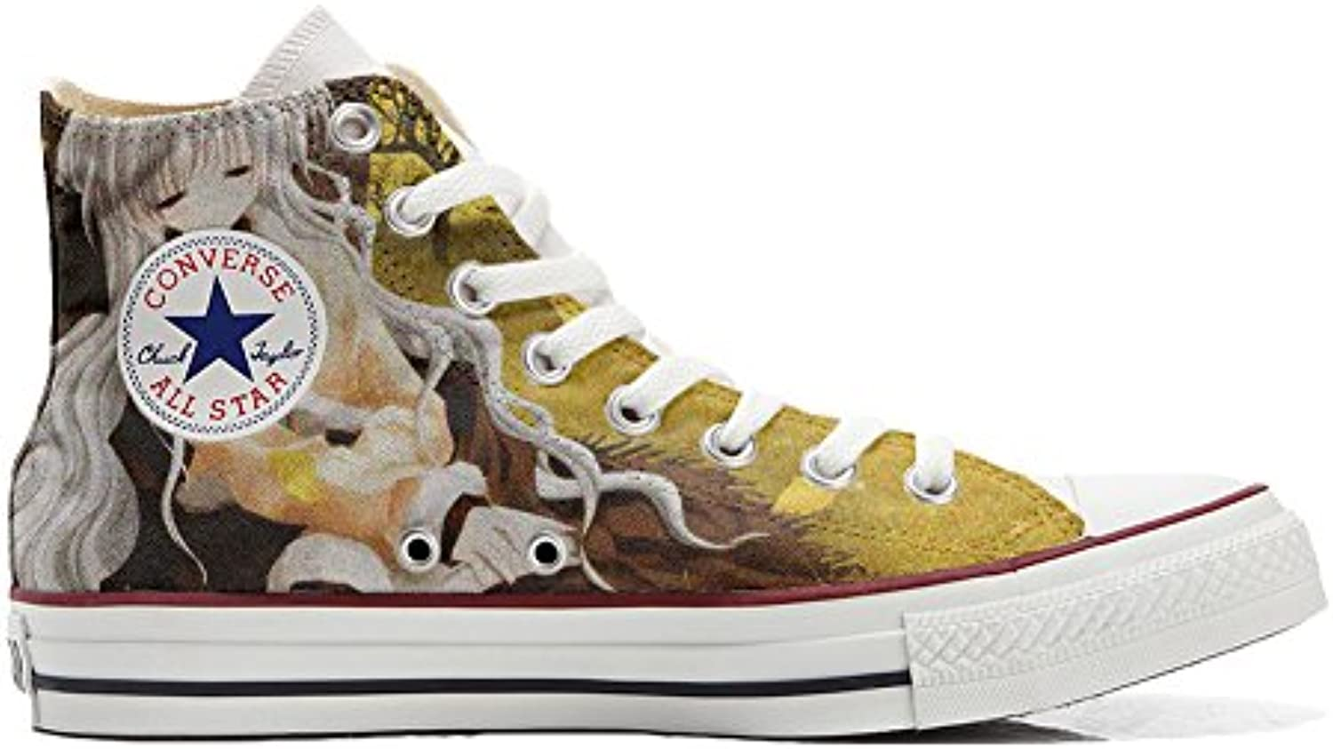 Converse All Star Zapatos Personalizados (Producto Handmade) (Producto Handmade) Abstract Art Size 34 EU -