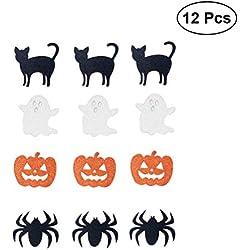 BESTOYARD 12 UNIDS Adornos de Calabaza de Halloween Adornos para Niños Proyectos de Manualidades Fabricación de Tarjetas Scrapbooking Decoración