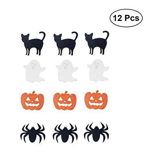 BESTOYARD 12 STÜCKE Halloween Kürbis Aufkleber Verzierungen für Kinder Handwerk Projekte Karte, Scrapbooking Dekoration