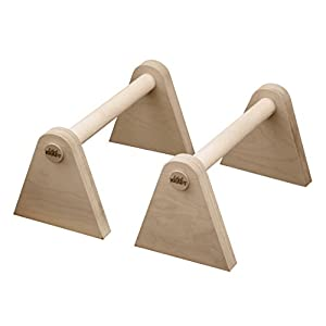EDELKRAFT® Minibarren to go/Studio – Handstand, Push-ups, L-Sitz – Parallettes aus FSC-Holz und Spezialkautschuk
