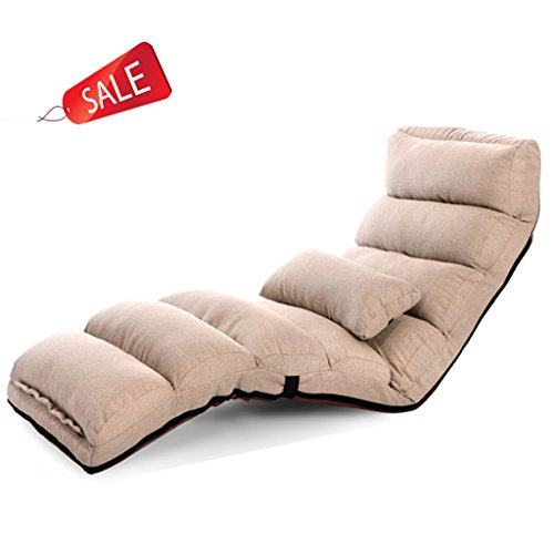 Faltbarer Boden-Stuhl-entspannender fauler Sofa-Bett-Sitz mit mehrfacher justierbarer Aufenthaltsraum-Boden-Liege-Lagerschwelle Futon-Matratzen-Sitz-Stuhl mit Kissen ( Size : A )