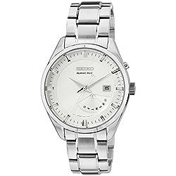 Seiko - SRN043P1 - Montre Homme - Automatique Analogique - Cadran Blanc - Bracelet Acier Gris