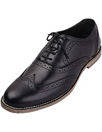 FBT Men's 12640 Full Leather Formal Brogue Shoes With Leather Upper, Leather Lining And Leather Sole