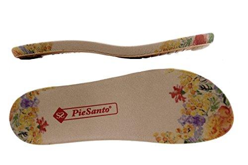 PieSanto Scarpe Donna Comfort Pelle 1503 Sandali Plantare Estraibile Larghezza Speciale Blanco