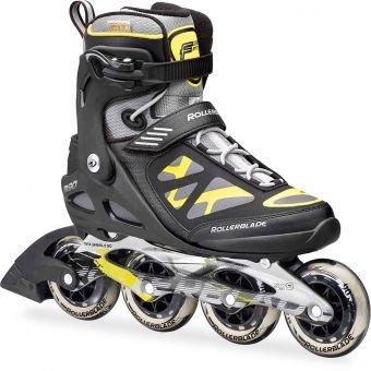 Rollerblade Macroblade 90Fitness Patines en línea para hombre Negro negro y amarillo Talla:43