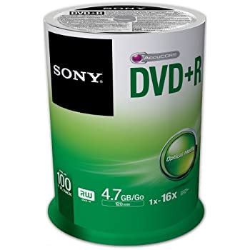 Sony - 100DPR47SP - 100 x DVD R - 4.7 Go ( 120 minutes ) 16x - spindle