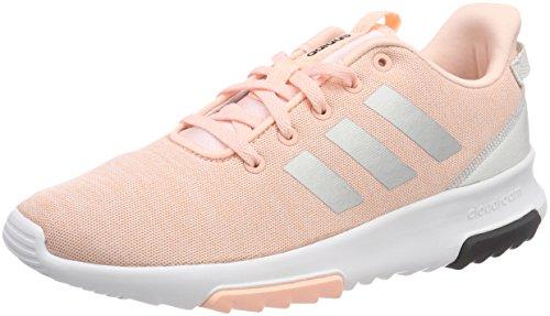 adidas Unisex-Kinder Cloudfoam Racer TR Sneaker, Pink (Haze Coral/Silver Metallic/Footwear White), 37 1/3 EU