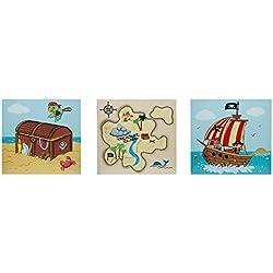 Cuadros de piratas para decoración del hogar.