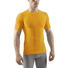 Sub Sports - Camiseta de compresión para hombre, talla L, color amarillo
