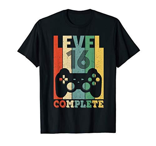Herren 16. Geburtstag Geschenk Shirt Level 16 Junge Gamer Zocker