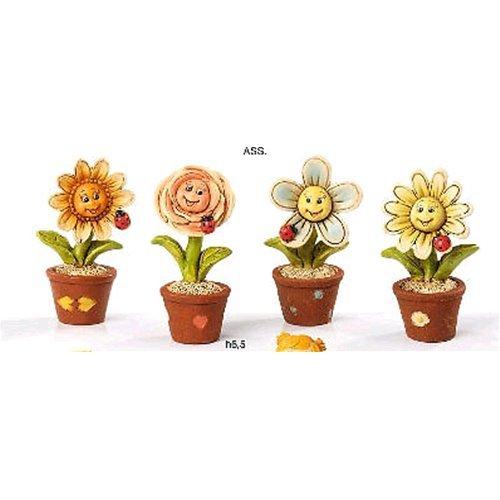 Bomboniere Disney resina vaso con fiori 6,5 cm