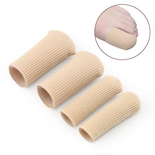 Ballen_Ma Finger- und Zehenschutz aus Silikon, feuchtigkeitsspendend, bei Hühneraugen oder Schwielen, 4Stück