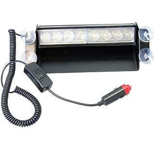 Aurnoc Auto weiß 8 LED Dash Stroboskop Polizei Blitz Notlicht Auto Windschutzscheibe Armaturenbrett Decklicht weiß